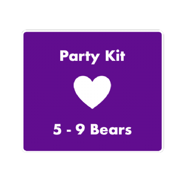 "16""  Bear Party  Kit for 5 Children  prices from"
